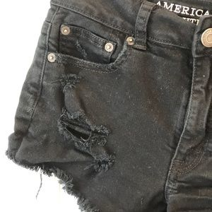 American Eagle Outfitters Shorts - AEO High Rise Festival Destroyed Shorts Denim 2